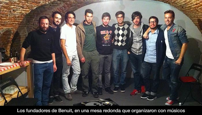 Emprendimiento entre músicos con la empresa Benuit